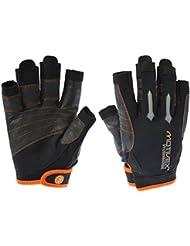 Motivex® Professional Motivex Guantes Negro/Naranja parte trasera Elastano, recubierta Palmas, todos los dedos cortados, dedos reforzados, tamaños de S hasta XL disponible, color  - negro, tamaño L