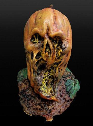 Maske Kürbis Kürbiskopf Pumpkin Jack O'Lantern Zombie Halloween (Maske Kürbiskopf)