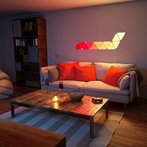 nanoleaf Aurora – 9x Modulare Smarte LED – Lichtpanels mit App Steuerung - 12