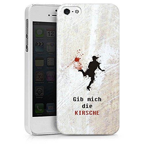 Apple iPhone X Silikon Hülle Case Schutzhülle Fußball Spruch Sport Hard Case weiß