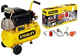 Compressore aria Stanley D210/8/24 24 lt lubrificato 2 HP 8 bar + KIT accessori 8 pz