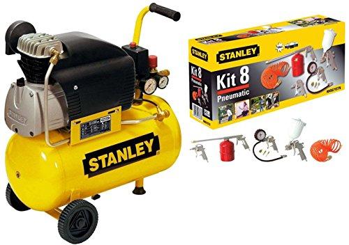 Compressore aria Stanley D210/8/24 24 lt lubrificato 2 HP 8 bar +...