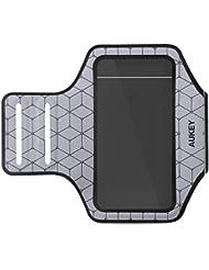 Aukey PC-T8 Brassard de Sport pour Smartphones Inférieur à 4,7 Pouces Argent