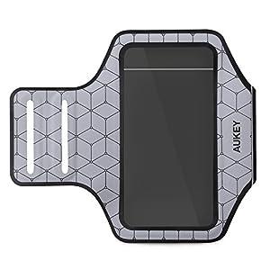 AUKEY Brassard Sport iPhone 6 / 6s Anti-Sueur avec Sangle Réglable Compatible avec les Smartphones Inférieur à 4,7 Pouces ( Argent )