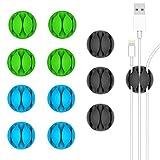 Kollea - Juego de 12 clips para organizador de cables, multiusos y duraderos, para dispositivos Apple, smartphones y mesas