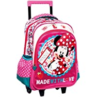 Minnie Et Ses Amies - - Sac à roulettes Minnie Rose 43 CM Trolley - Cartable 5207caf0ea6f