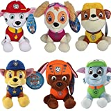 Paw Patrol Plush Soft Toys Marshall Chase Zuma Skye Rubble Rocky Ryder Air Rescue (6pc Original Soft Toy)