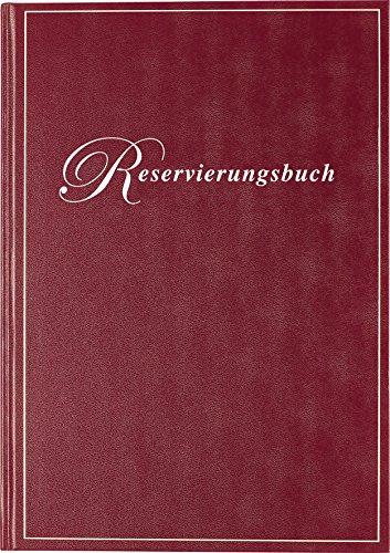 Rido/idé (702730329) Reservierungsbuch (1 Seite = 1 Tag, 210 x 297 mm, Balacron-Einband, Kalendarium immerwährend) bordeaux