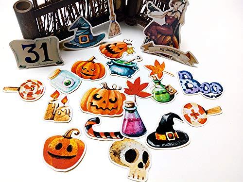 MSSJ 22pcsSelf-Made Handbuch Aufkleber Cute Kawaii Halloween Aufkleber lustige dekorative Aufkleber Scrapbooking DIY Handwerk - Home Made Clown Kostüm