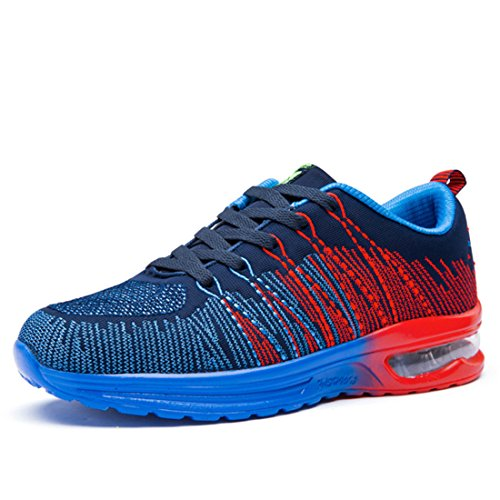 Men's Breathable Light Cushion Outdoor Running Shoes blue
