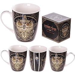Taza de porcelana Lisa Parker - en caja de regalo - Lisa Parker carcasa One Star taza diseño de búho