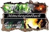 Ultras Mönchengladbach, 3D Wandsticker Format: 92x62cm, Wanddekoration