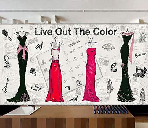 SKTYEE 3D Wandbild 3D Moderne kreative personalisierte handgemalte Tapete Mode Kleid Hochzeitskleid...