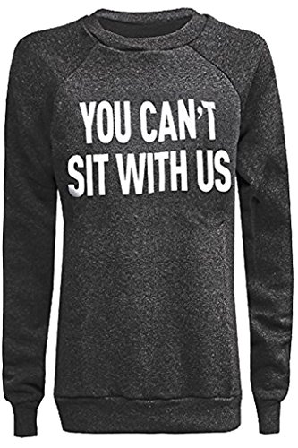 Home ware outlet - Sweat-shirt - Pull - Manches Longues - Femme noir * taille unique You cant sit with us Grey