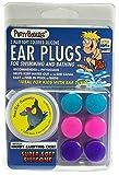 PUTTY BUDDIES Original Swimming Earplugs 3-Pair Pack (Purple/Teal/Magenta)