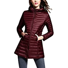 huge selection of dfaee 676ff Amazon.it: piumino lunghi donna - Rosso