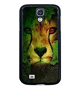Fuson Premium 2D Back Case Cover Lion on Rocks With Red Background Degined For Samsung Galaxy S4 Mini::Samsung Galaxy S4 Mini i9190