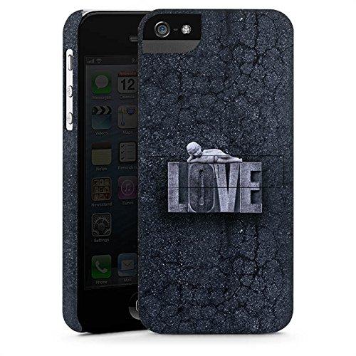 Apple iPhone X Silikon Hülle Case Schutzhülle Love Schwarz Weiß Engel Premium Case StandUp