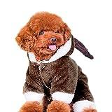LAAT Vestiti con cappucci per cani Abiti invernali per animali domestici Vestiti per animali domestici per Natale Vestiti morbidi per animali domestici