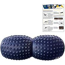 Peanut Foam Roller - Attrezzo estremamente versatile, rullo da massaggio per muscoli - Terapia Trigger Point - Schiuma ad alta densità - Usato per la colonna vertebrale inferiore, la parte superiore schiena e per il collo - Perfetto per il rilassamento miofasciale - Lungo 32,5 cm e largo 15 cm nel suo punto più largo. Progettato da un Fisioterapista altamente qualificato nel settore sanitario