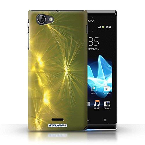 Kobalt® Imprimé Etui / Coque pour Sony Xperia J (ST26i) / Rouge conception / Série Allumez la vie Jaune