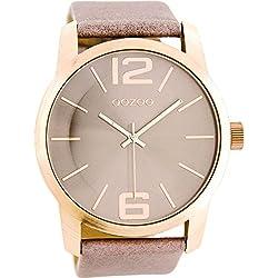 Oozoo XL Damen-Armbanduhr Rosé Taupe C8036