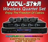 Vocal-Star Wireless Quartet Set–Karaoke-Maschine mit vier kabellosen Mikrofonen und 150Songs zur Auswahl