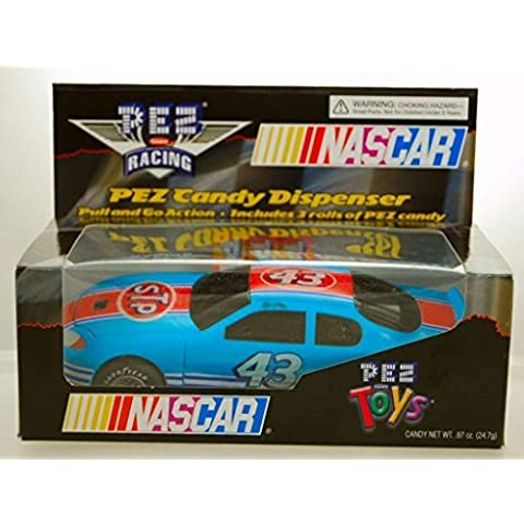 2005 - PEZ Toys - PEZ Candy Racing - NASCAR - Richard Petty #43 - STP Pontiac - Pull & Go Action - Includes 3 Rolls of PEZ - Limited Edition - Colelctible by Nascar