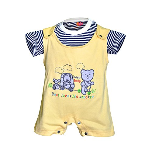 Orange and Orchid Baby Boys Cotton Tops & Bottoms Sets (0-6 Months)