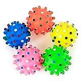 MachinYesity Pet Puppy Dog Squeaky Fetch Ball Toys Morso Resistente Squeeze Chew Toy per agitatori masticatori Cute Ball Design Small Spiky Ball