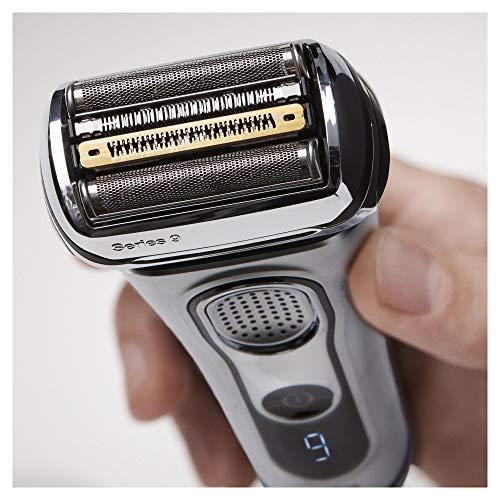 Braun Series 9 9292cc Elektrorasierer - kabelloser Herren Rasierer für Nass- und Trockenrasur mit Reiseetui, silber