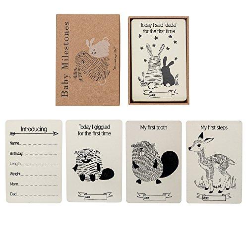 Bloomingville Baby Tagebuch Karten, natur -