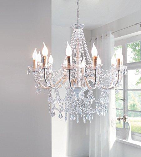 "Kronleuchter ""Maxi"", Kristall-Optik, Elegante Kerzen - 6"
