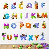 StickMe 'Alphabets - Baby - Kids - Learning Education Nursery Pre School Kinder Garden Wall Sticker' -SM077 (PVC Vinyl - 100cm X 100 cm)