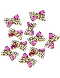 Sanwood 10 Stk 3D Kristall Strassstein Legierung Nagel Kunst Glitter Aufkleber DIY Dekoration