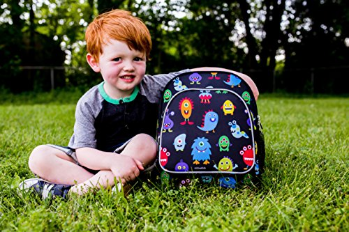 51JahgMeH4L - Wildkin Toddler Backpack-Action Vehicles, Polyester, Multi-Colour, Pack 'n Snack