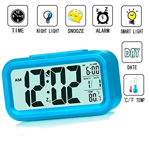 Reloj despertador inteligente Luz velada, para niños, adolescentes, jóvenes LED de datos...