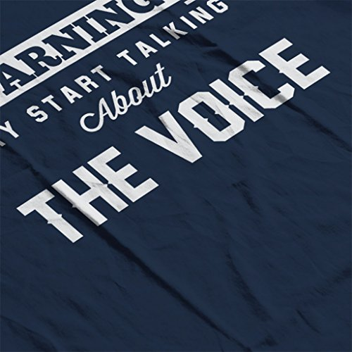 Warning May Start Talking About The Voice Women's Hooded Sweatshirt Navy blue