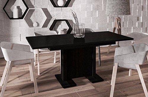 Endo Esstisch Endo Davos 170 ausziehbar erweiterbar Küchentisch Säulentisch Tisch // Wenge -