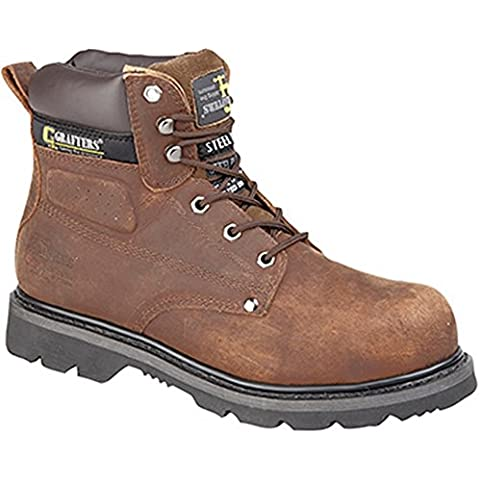 Grafters Adult M538 Safety Boots Brown