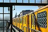 Pixblick - U-Bahn in der Schönhauser Allee in Berlin - Hochwertiges Wandbild - Hartschaumplatte 60 x 40 cm