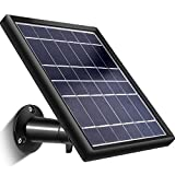 Solar Panel für Ring Stick Up Cam, Halten Stick Up Cam Akku Kontinuierlich Geladen mit 5 m/ 16,4 ft Stromkabel, 5 V/ 3,5 W (Max) Ausgang, Wasserdichtes Design