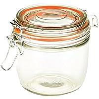 Genware nev-tj-xl Glas Terrine Jar, 350ml, 9,5cm x 8.1cm
