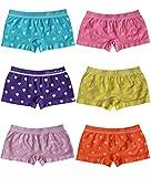 BestSale247 6 | 12 Stück Mädchen Pantys Hipster Shorts Girls Kinder Unterhosen Kids Unterwäsche Mikrofaser 92 bis 158 (110-122, 6 Stück Herz-Motiv)