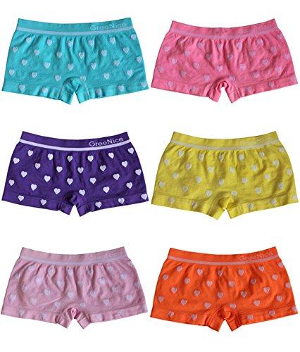 BestSale247 6 Stück Mädchen Pantys Hipster Shorts Boxershorts Girls Unterhosen Kids Unterwäsche Mikrofaser 98 bis 164 (134-146)