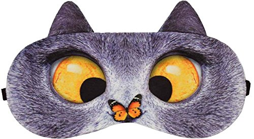 Excentrique Cat Expression Sleeping masque pour les yeux Eye Cover Sleep Goggles