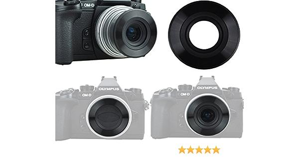 Automatischer Objektivdeckel Schwarz Für Olympus Kamera