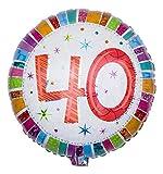 Geschenkidee Geburtstagsdeko - Ballongruesse - Ballon Zahl zum 40. Geburtstag, Radiant als Ballongruss im Überraschungskarton