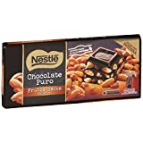 Nestlé - Tableta de Chocolate Negro con Frutos Secos - 3 Paquetes de 200 g