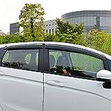 BeHave YD728W auto deflettore, auto finestra pioggia guardia, auto accessori auto Windows facciale per auto Windows, finestra deflettore confezione da 4pezzi Chrome Windows facciale